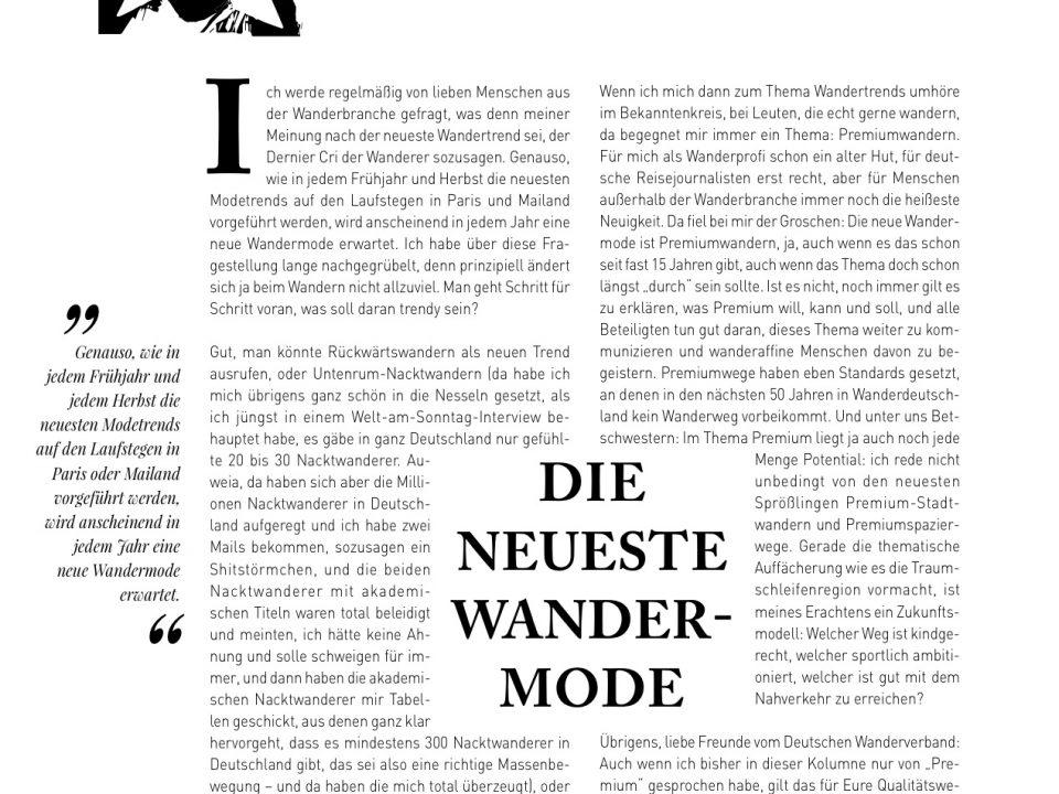 Manuel Andrack, Klartext: Die neueste Wandermode