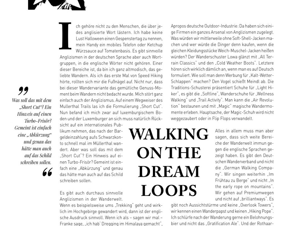 Manuel Andrack, Klartext: Walking on the dream loops