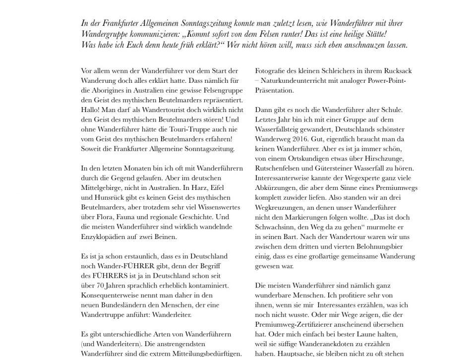 Manuel Andrack, Klartext: Die Wanderführer